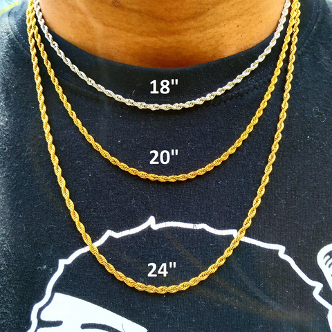 NECKLACE SIZE CHART - NECKLACE SIZE GUIDE - CHAIN LENGTH  GUIDE