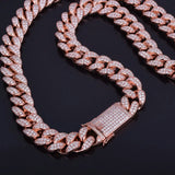 CZ Diamond Rose Gold Miami Cuban Link Chain