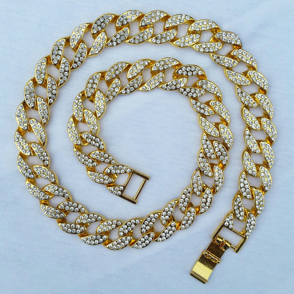 Golden Boyz coupon 18K Gold Diamond Cuban Link