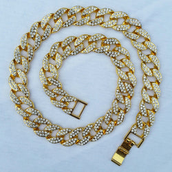 18K Gold Diamond Cuban Link