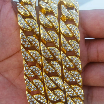 18K Gold N' Diamonds Chain