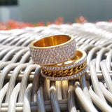 18K Gold 5 Row Ring
