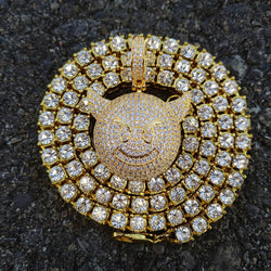 18K Gold Diamond Devil Emoji