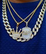 King 100 Diamond Cuban Link Set