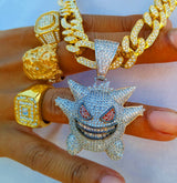18K Gold Diamond Ghost