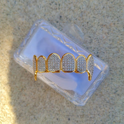 18K Gold Diamond Vamp Grillz