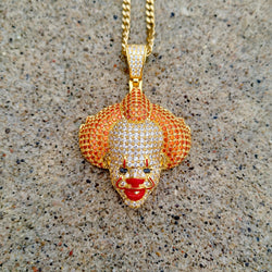 18K Gold Iced Out PennyWise Clown