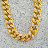 13mm 18K Gold Miami Cuban Link (Choker)