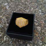 18K Gold Diamond Hexagon Ring