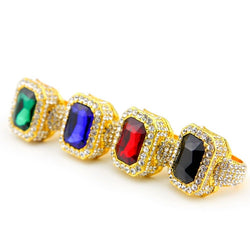 CZ Diamond 18k Gold Plated  Gemstone Ring
