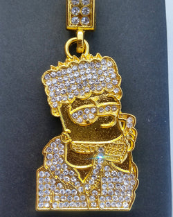 18K Gold Diamond Bart