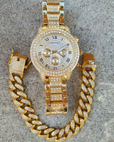 Miami Double Bezel Watch and Bracelet Set