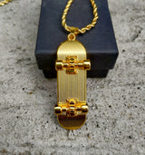 18K Gold Diamond Skateboard