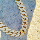 18K Gold 20mm Prong Cuban Link