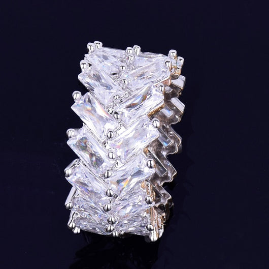 18K Gold 2 Row Baguette Ring