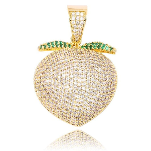 18k Gold Diamond Peach