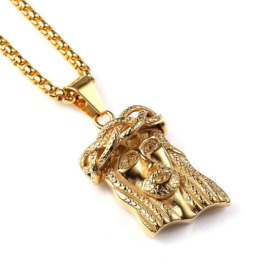 18k Gold Plated Jesus Piece with Chain