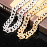 18K Gold Diamond Rope Cuban Link Chain