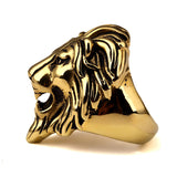 18K Gold Lion Head Ring