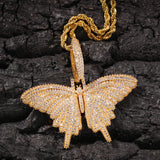 18K Gold Diamond Butterfly