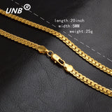 18k GOLD Plated Cuban Link Lace Chain