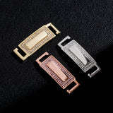 Custom 18k Gold Diamond Shoelace Buckle