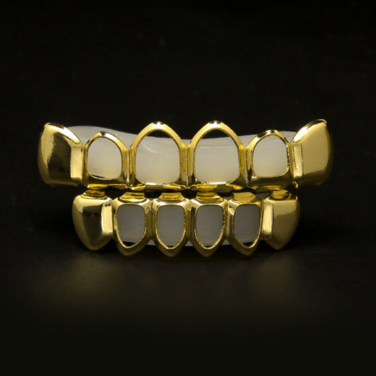 18K Gold Plated Open Face Grillz