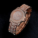 Rose Gold CZ Diamond Frozen Watch