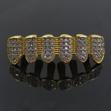 18K Gold Diamond Vampire Grillz