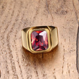 Red CZ Ring