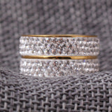 2 Band CZ Diamond Ring