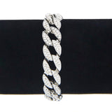 18K Gold Diamond Cuban Link Bracelet