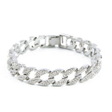 CZ Diamond Cuban Link Bracelet