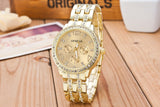 18K Gold Diamond Face Watch 2