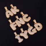 Custom Gold Icy Bubble Letter