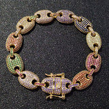 Colored Diamond Gucci Link Bracelet