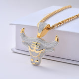 18K Gold Diamond Bull