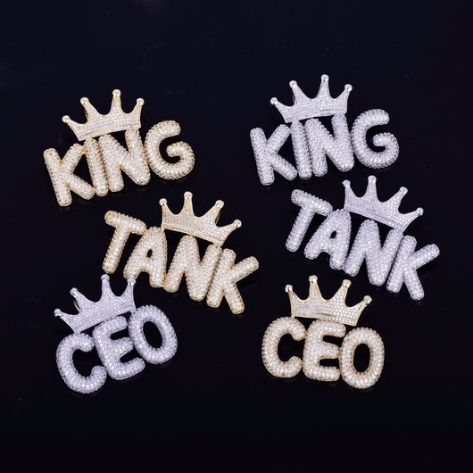Custom Diamond Crown Letters