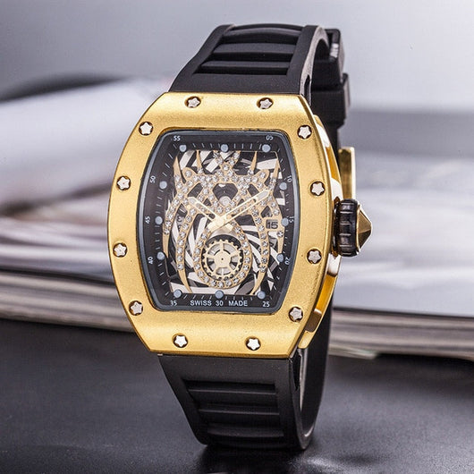 18K Gold Diamond Richy M Watch