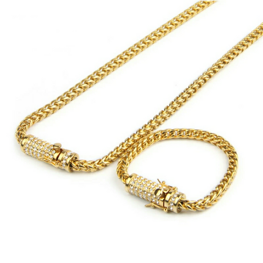 Diamond Clasp Cuban Links Set