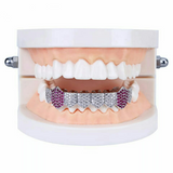 Diamond & Amethyst Fang Grillz