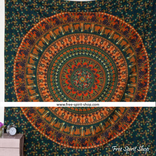 100% Cotton Gaja Mandala Tapestry - Free Spirit Shop