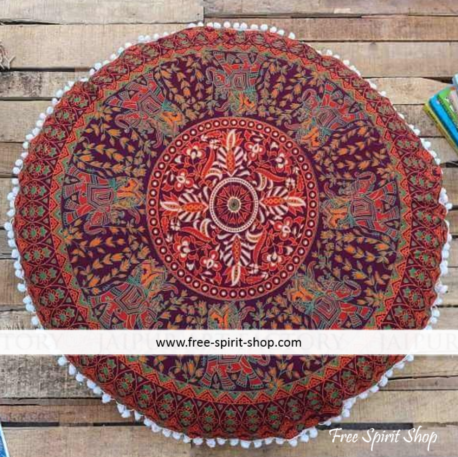 100% Cotton Maruti Mandala Cushion Cover - Free Spirit Shop