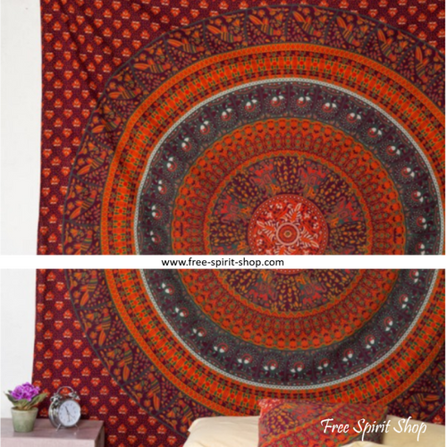 100% Cotton Maruti Mandala Tapestry - Free Spirit Shop