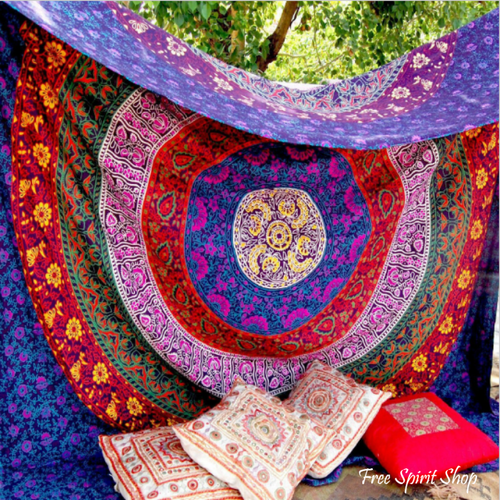 100% Cotton Prithvi Mandala Tapestry - Free Spirit Shop