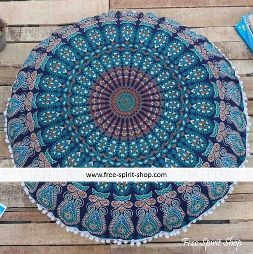 100% Cotton Vishnu Mandala Cushion Cover - Free Spirit Shop