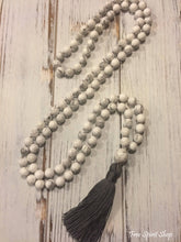 108 Natural Howlite Stone Mala Prayer Beads Necklace - Free Spirit Shop