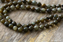 108 Natural Labradorite Mala Beads Necklace With Tassel - Free Spirit Shop