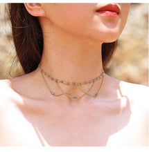 Boho-Chic Romantic Layered Choker With Beads - Free Spirit Shop