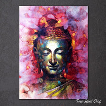 Color Splash Feng Shui Buddha Painting Canvas - Free Spirit Shop
